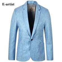 E-artist Men's Slim Fit Business Casual Linen Blazer Jackets Suit Coats Outwear Overcoats for All Season Plus Size 5XL X01