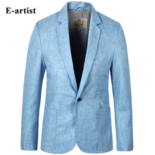 E-artist Men's Slim Fit Business Casual Linen Blazer Jackets Suit Coats Outwear Overcoats for All Season Plus Size 5XL X01