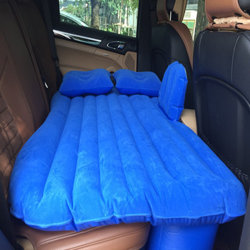 Hot Sale Car Air Bed Inflatable Mattress Back Seat Cushion 2 Pillows Good Quality Car Bed For Travel Camping Flocking Cloth