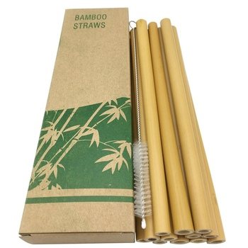12 pçs/set bambu canudos bebendo reutilizáveis eco-friendly festa palhas de cozinha com escova limpa transporte da gota por atacado