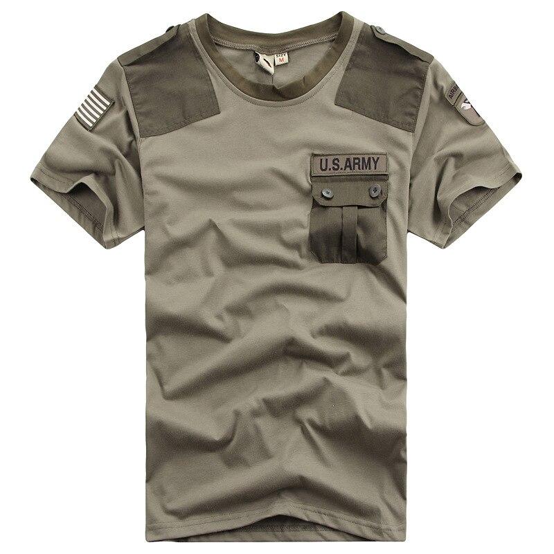 Aliexpress.com : Buy Summer Men`s US Army Patchwork Pocket T ...