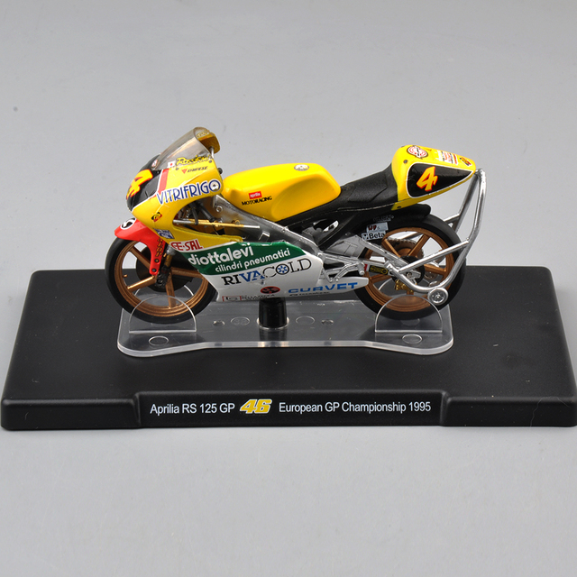 VALENTINO ROSSI Aprilia RS 125 GP 46# 1/18 Diecast Motorcycle Model European GP Championship 1995 Racing Bike Model Child Toys