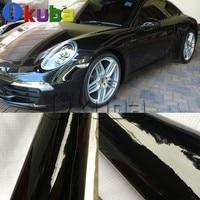 슈퍼 광택 블랙 비닐 랩 광택 필름 자동차 광택 롤 방수 자동차 스타일링 비닐 1.52*30 m/롤