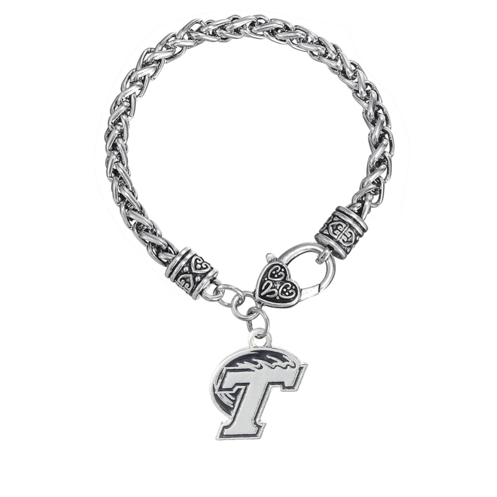 Home college tulane green wave tulane green wave silver plated - Skyrim Tulane Green Wave Logo Charm Bracelet Man Jewelry Drop Shipping China Mainland