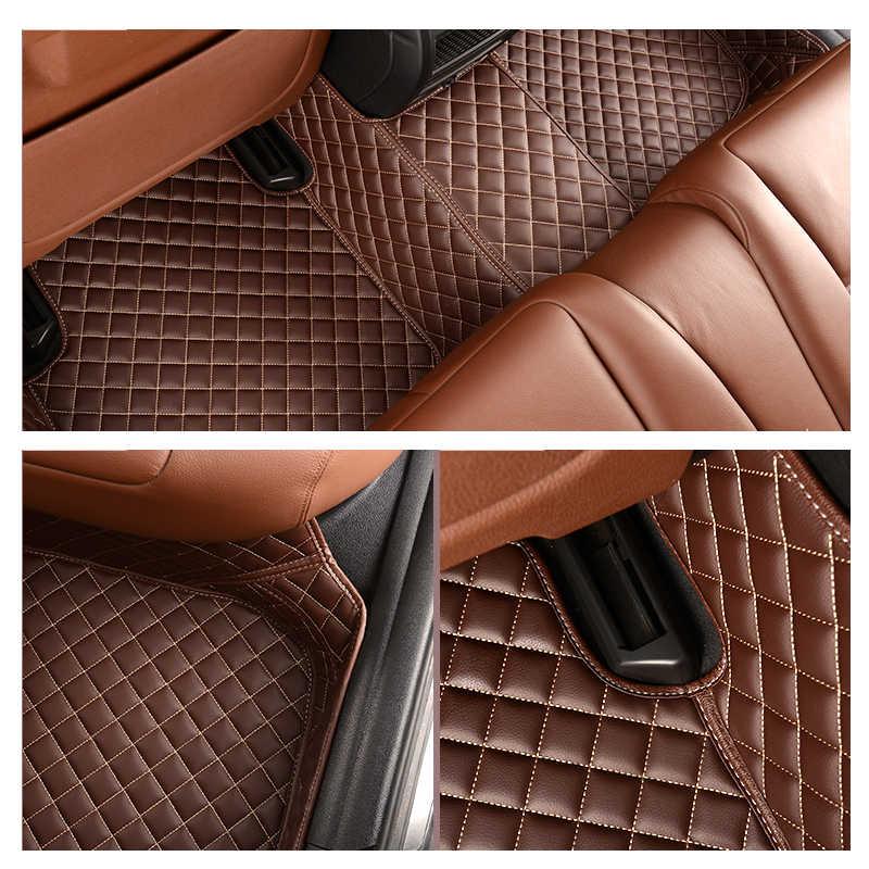 Mobil Angin Kulit Lantai Mobil Tikar untuk RAV4 Lexus RX450h Chrysler 300C 2006 BMW E70 CR-V Tahan Air Liner karpet Mobil Aksesoris