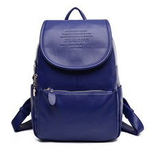 Новые повседневные женские рюкзак из искусственной кожи для девочек элегантный дизайн школьные рюкзаки для 2017, женская обувь маленькие дамы дорожная сумка черный сзади F096
