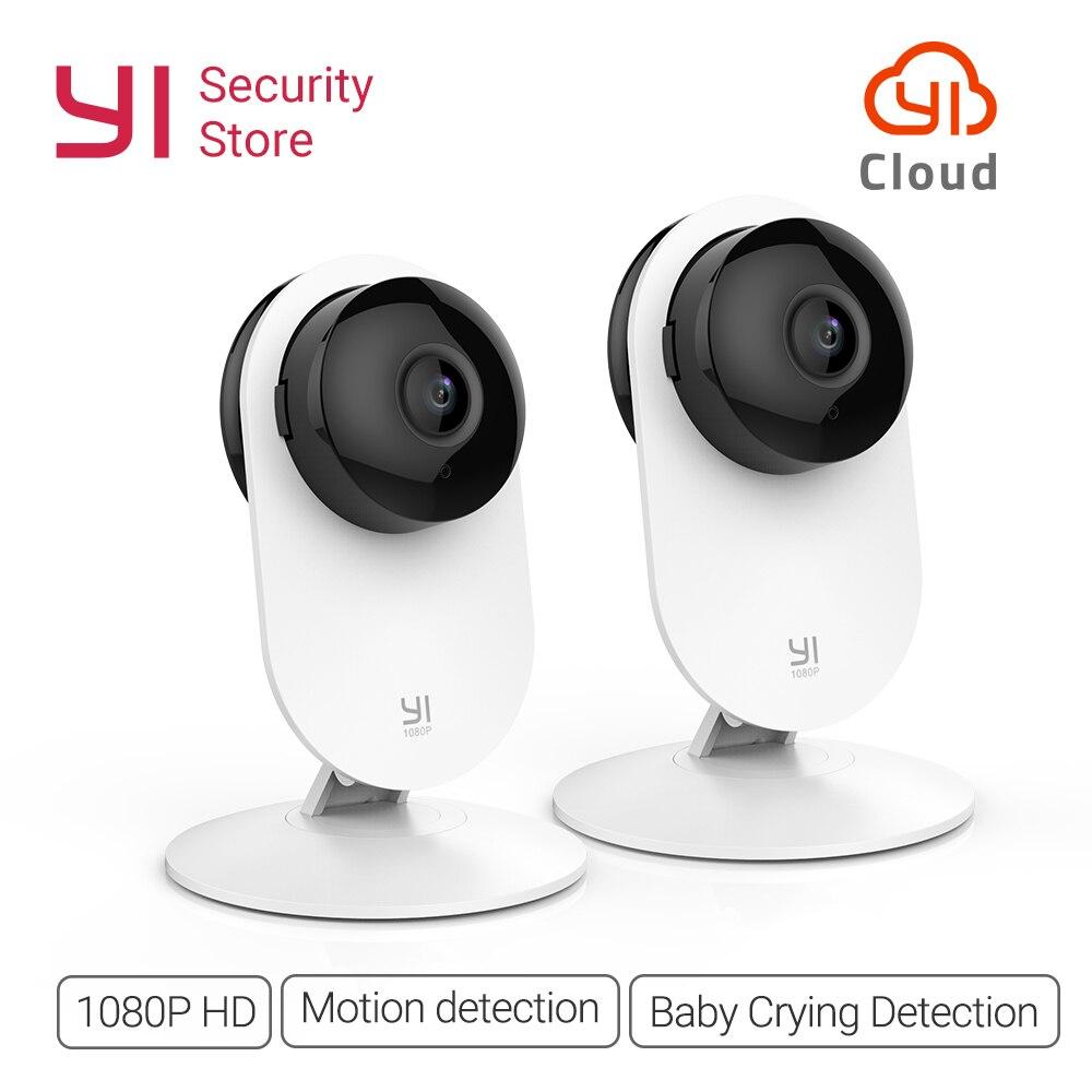 YI 1080p caméra maison sans fil IP système de Surveillance de sécurité WIFI cam CCTV YI Cloud caméra disponible hibou (édition US/EU) blanc