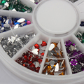 1500pcs Mix Shape Glitter Nail Art Acrylic Wheel Rhinestones Decoration TipsFE#8