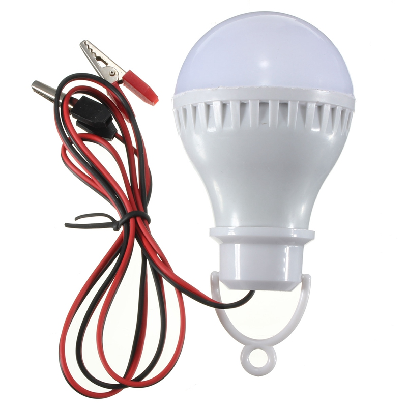 High Quality E27 5W 6000K LED Bulbs Lamp Home Camping Hunting Emergency Outdoor Light For DC 12V ...