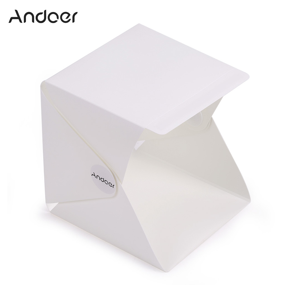 Andoer Mini Folding Studio Portable Photography Mini Studio Foldable Softbox With USB LED Light for Smartphone Or DSLR Camera-in Photo Studio Accessories ...