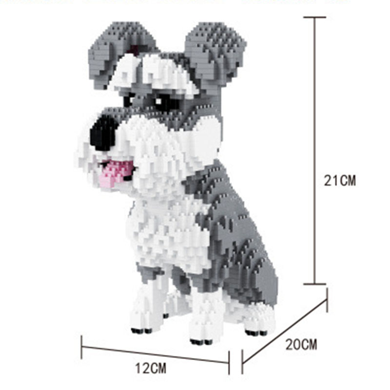 Balody Husky Pets Pure White Bentley Dog Figure Diamond Mini Building Block Toy Children Educational Assembly Bricks #16042