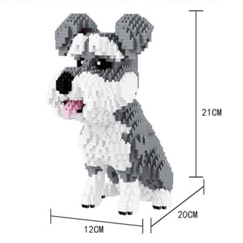 Balody Husky Pets Pure White Bentley Dog Figure Diamond Mini Building Block Toy Children Educational Assembly Bricks #16042
