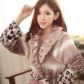 Winter Warm Long Sleeve Flannel Robe Female Sleepwear Lounges Homewear Pyjamas Bathrobes Women Robe Autumn
