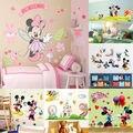 Mickey Minnie Mouse Família Adesivo de Parede de Vinil Decalques crianças quarto decorações art removível decalques adesivos de parede filme SS
