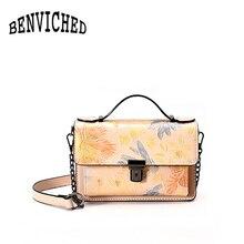 Benviched небольшой площади волна прилива Новинка 2017 Глянцевая тиснением сумки Простые цепи плечо сумка R310(China (Mainland))