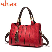 MIYACO Designer Women Bag Fashion Handbag Female Messenger bag Retro  Leather Top Handle bag Red Luxury Style 2018 fac0a3b4b6809