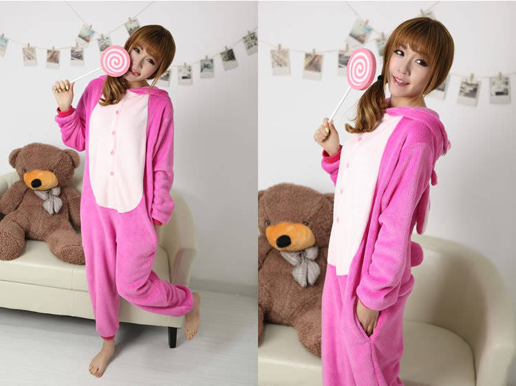 Adults Animal Cosplay Pajamas Lilo Angel Pink stitch Onesie Sleepwear for women Tracksuit Party Halloween Costume Dresses