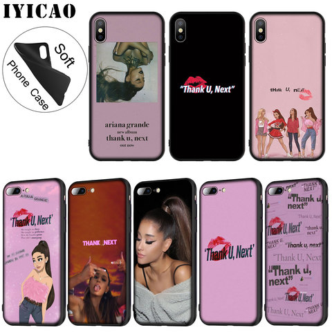 IYICAO Thank U Next Ariana Grande Soft Silicone Phone Case for iPhone XR X XS Max 6 6S 7 8 Plus 5 5S SE TPU Black Cover Pakistan