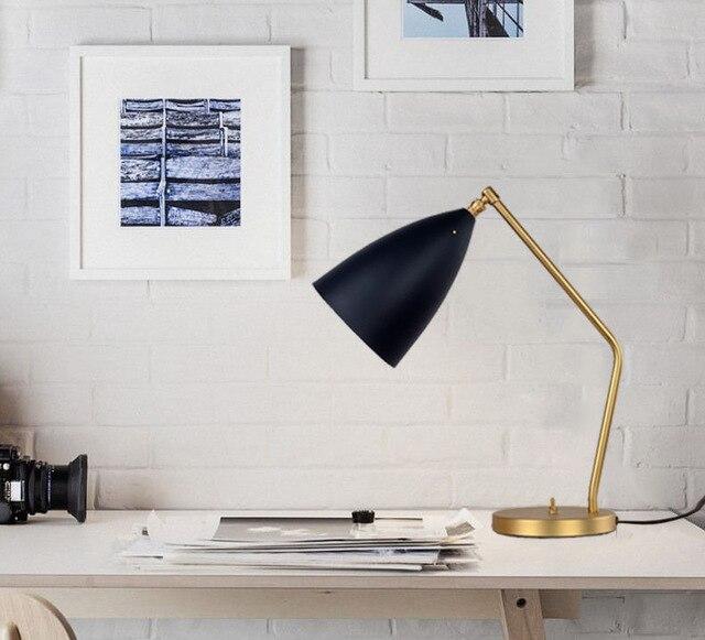 Book Light Grossman Grasshopper Table L& Nordic Copper Desk L& Study L& Classic Architect Table Light Hotel Bedside Lights-in Desk L&s from Lights ... & Book Light Grossman Grasshopper Table Lamp Nordic Copper Desk Lamp ...