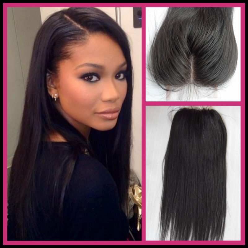 Brazilian Straight Hair Lace Top Closure 44 Silky Straight 8 18