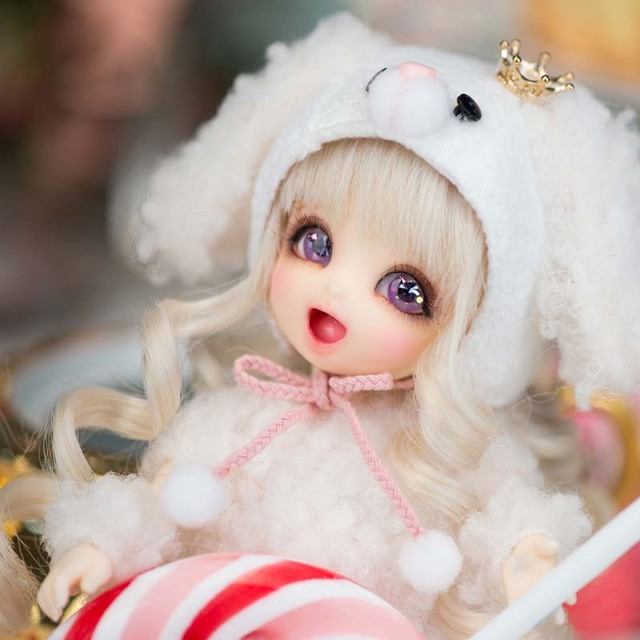 2018 New Arrival 1/8 BJD Doll BJD/SD BB Cute PongPong Doll With Free Eyes For Baby Girl Gift  2
