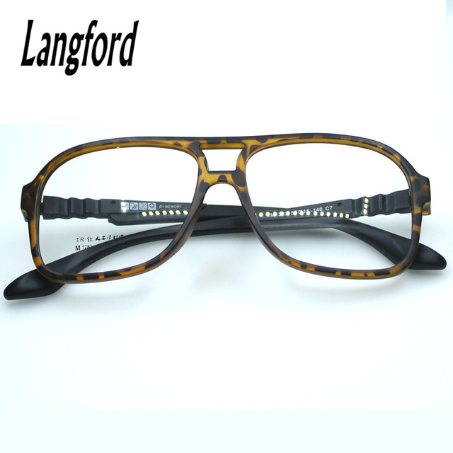 Aliexpress.com : Buy double bridge Eyeglass Frames TR90 Big Eyeglass ...