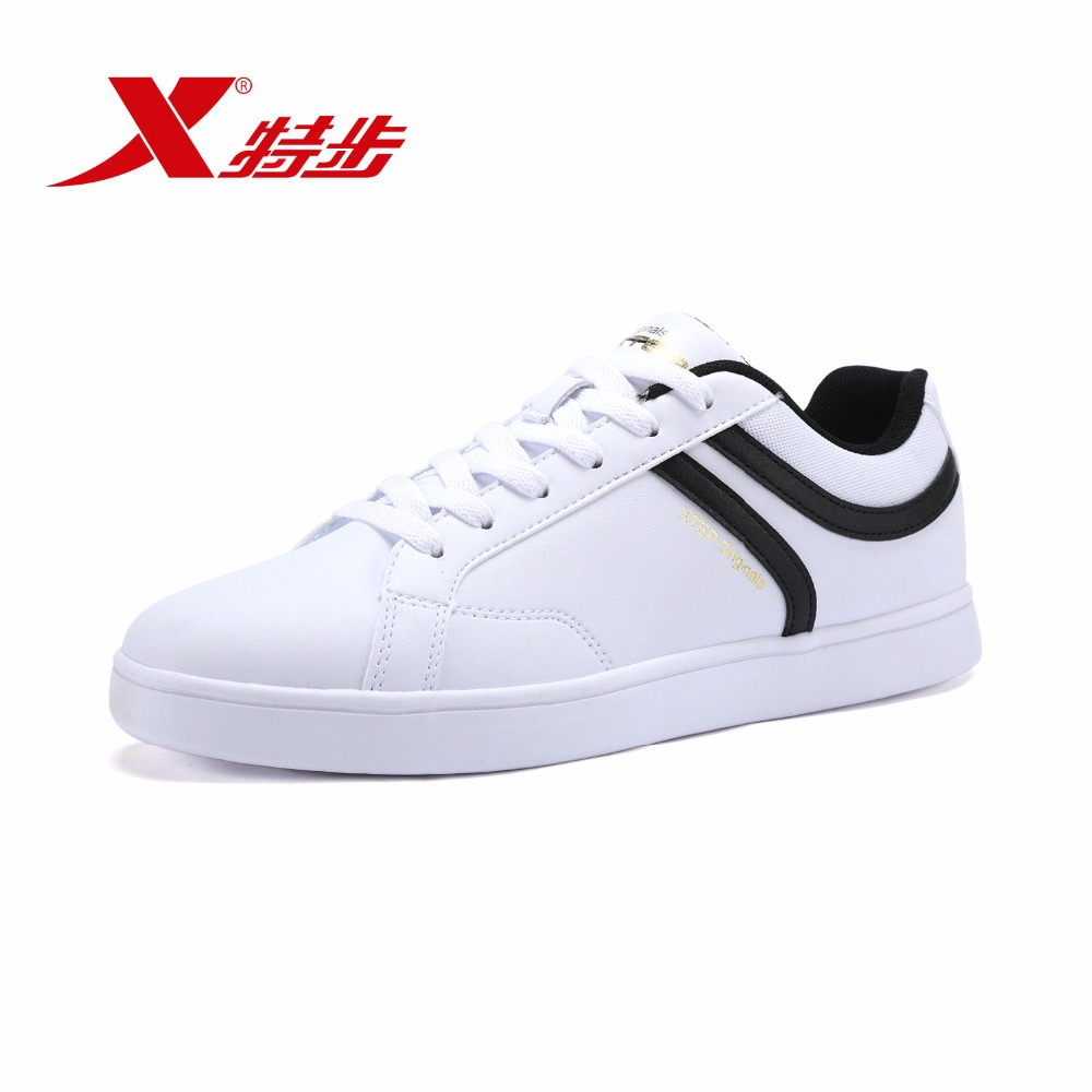 XTEP Original Men's Skateboarding Shoes Lace Up Skateboard men Sneakers Low Upper Flat Sports Shoes free shipping 985119313559