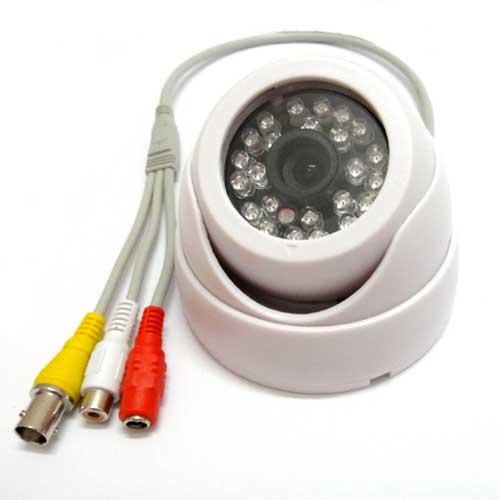 1 4 420TVL CMOS IR Color Security font b CCTV b font Audio Camera Wide Angle