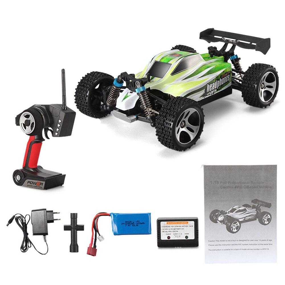 A959 B Elektrische Racing 1:18 Gift Speelgoed Kids RC Auto Vierwielaandrijving 70 km/h Afstandsbediening Off Road 2.4 GHz Buggy 4WD-in RC Auto´s van Speelgoed & Hobbies op  Groep 2