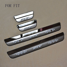 Car Styling FIT for HONDA FIT fit 2014 2015 2016 2017  Door Sill Scuff Pedal Door Step Welcome Pedal Automobile Accessories