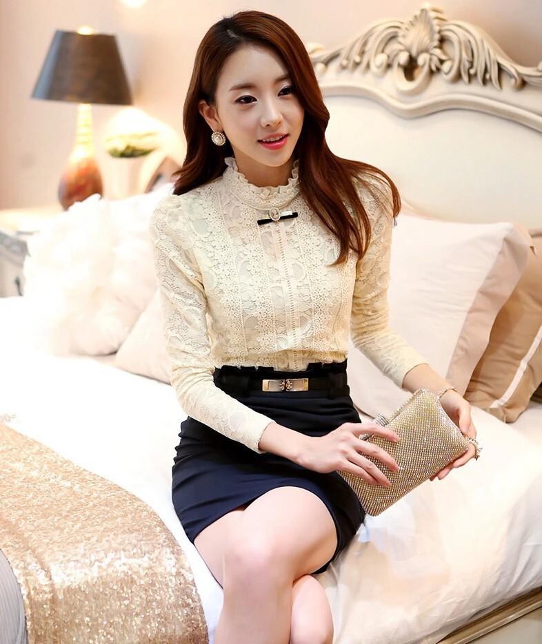 HTB1bXjGGVXXXXbXXpXXq6xXFXXX6 - New Lace Shirt Women Clothing Blusas Femininas Blouses