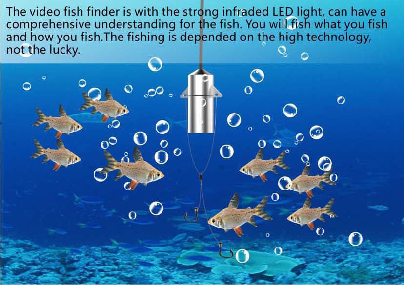 HD Underwater Video Camera System with 4.3 LCD Monitor 4000mAh Battery Built-in & 20M 2MP Fishing Camera and AHD Camera on LCD_12