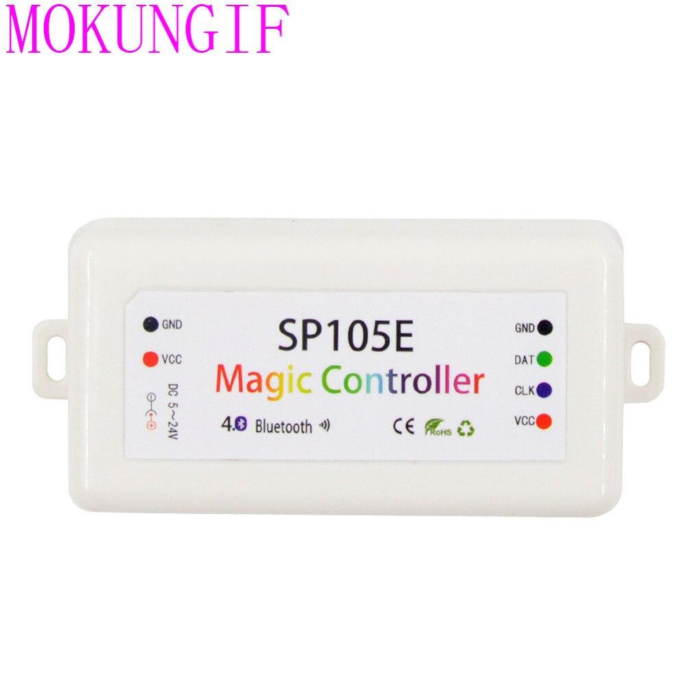 Hell Dc5-24v 2048 Pixel Sp105e Sp108e Magie Controller 4,0 Bluetooth App Controller Ws2801 Ws2811 Ws2812b Sk6812 Ldp8806 Streifen Unterscheidungskraft FüR Seine Traditionellen Eigenschaften Beleuchtung Zubehör