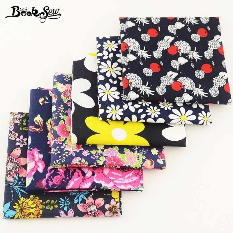 Booksew 100% хлопок поплин Ткань флоры и фрукты 6 шт./лот Жир Квартал Комплект ткани Tecido для Craft Рубашка Платье для девочек Костюмы