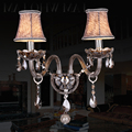 Smoked K9 Crystal LED Crystal Wall Lamp Bedroom Wall Lamp Cosmetic Lamp Crystal Smoked Crystal Sconce