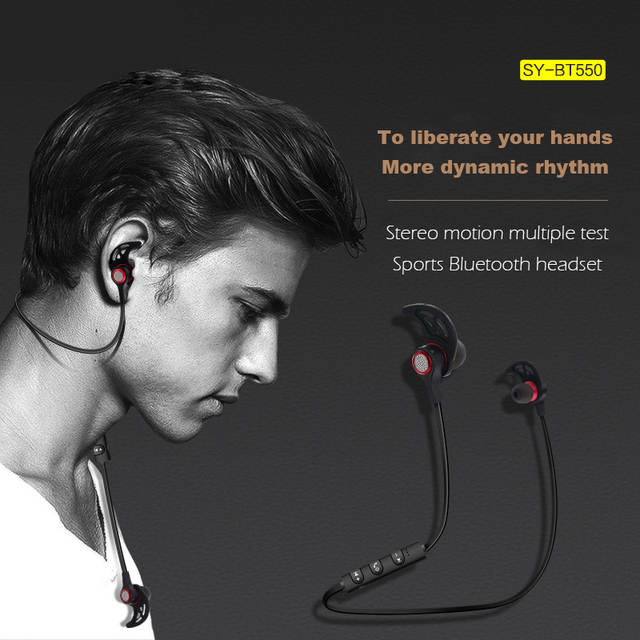 Online Shop New Wireless Bluetooth Earphone Bt550 With Stereo Waterproof In Ear And Sported With Microphone Earphone Aliexpress Mobile