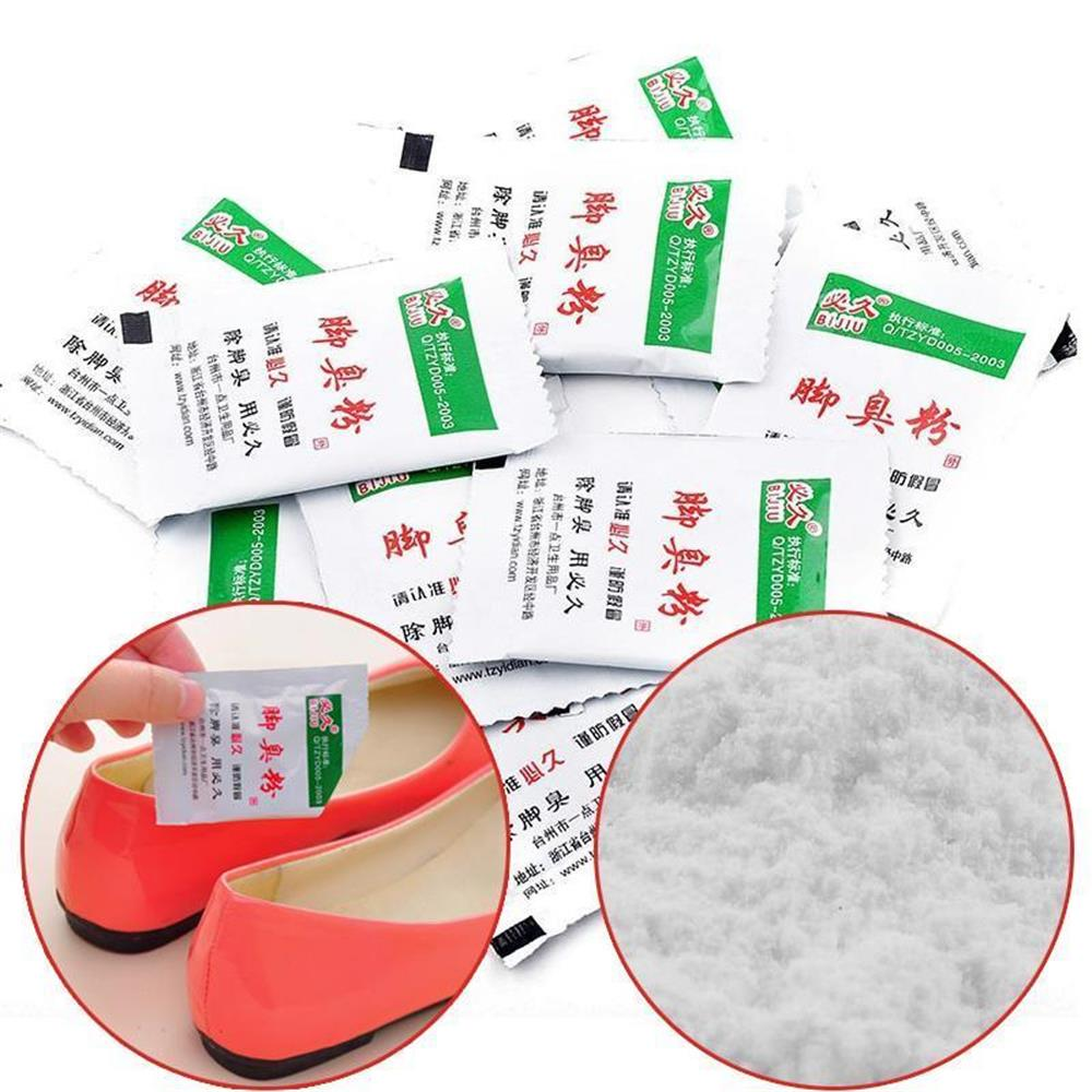 10 PCs Professional Foot Deodorant Powder Antiperspirant Deodorant Bad Smell Removal Cure Psoriasis Antibacterial Health Care