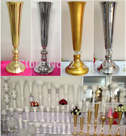Express Free Shipping Whole Wedding Supplies Gold Silver Trumpet Decoration Table Centerpieces In Party Diy Decorations From Home Garden On