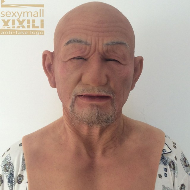 Top quality! halloween masks/ full face party/masks/Artwork elderly mask  masquerade / realistic silicone mask/