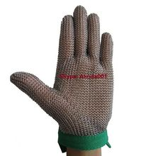 Chain Mail Gloves 316L Stainless Steel Wire Gloves Metal Mesh Cut Proof Safety Gloves CE EN388 EN420 Chain Saw Ring Mesh Gloves