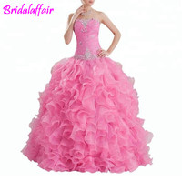 Heavy Beading vestido debutante Pink Ball Gown Quinceanera Dress vestidos de 15 anos vestidos de 15 anos quinceanera ball dress