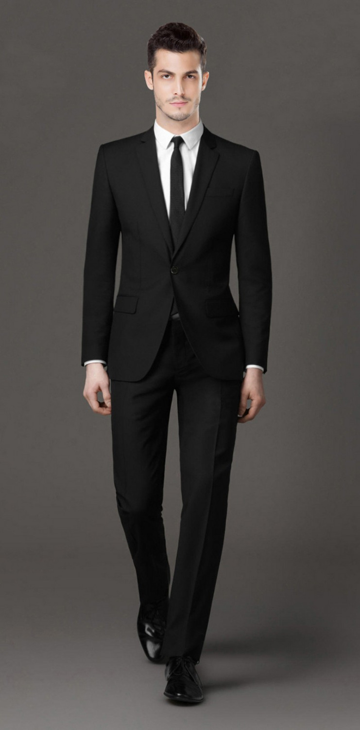 Popular Cheap Black Suits for Men-Buy Cheap Cheap Black Suits for