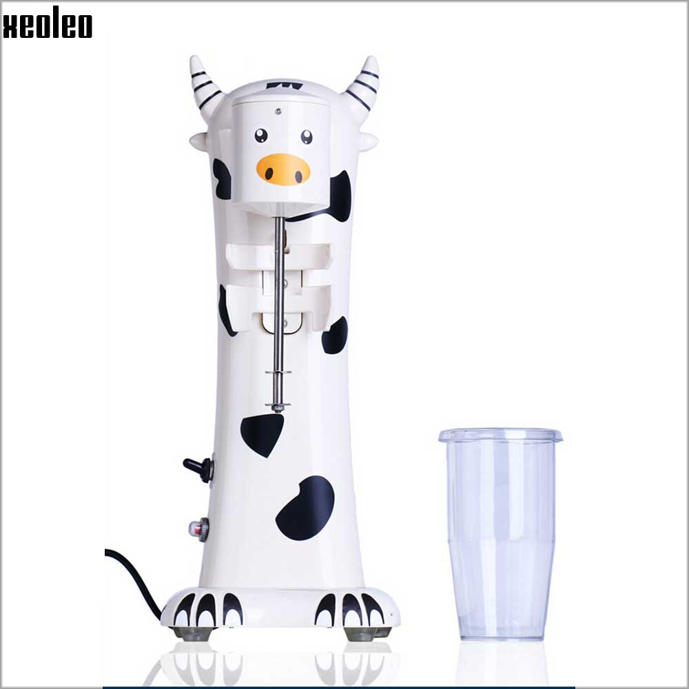 Xeoleo Commercial Cartoon Milk Shake Machine Single Head Mixer Blender Make Milks Foam/Milkshake Bubble Tea Machine 220v commercial single double head milkshake machine electric espresso coffee milk foam frother machine bubble maker