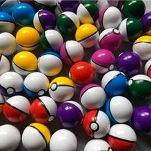 50Pieces  Diameter:48mm Plastic Toy Capsule Egg Shell Ball Vending Machine Pocket Monster Doll