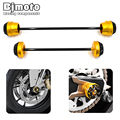 Motorbike Pair Rear Front Axle Fork Crash Sliders Protector Cap Falling Protection For YAMAHA MT-07 MT07 2013 2014 2015