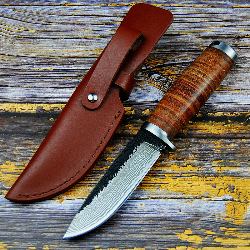 PEGASI Sharp forging 60HRC manual hunting knife second cutting outdoor hunting knife north American tactical straight knife