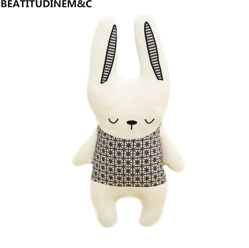 Nordic Style Rabbit Unicorn Bear Pillow Cushion Toys 3