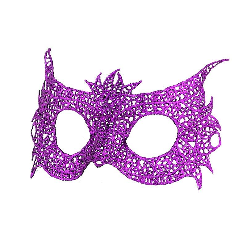 Фиксированная форма, Дамская Сексуальная Маскарадная маска из кружева для карнавала, Хэллоуина, выпускного вечера, Вечерние Маски, фиолетовые, горячее тиснение#35 - Цвет: PM032TZ