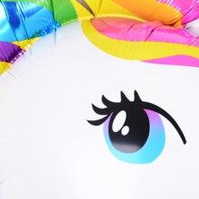 Tronzo Birthday Party Decorations kids Foil Balloons New Latex Unicorn Balloon Party Supplies Wedding Baby Shower Decor Rainbow
