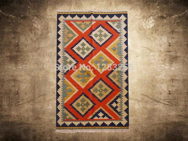 Nordic Weinlese Handwoven Teppiche Luxus Kelim Teppich Wohnzimmer Wolle Gc137 10yg4